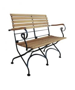 iron wood garden furniture